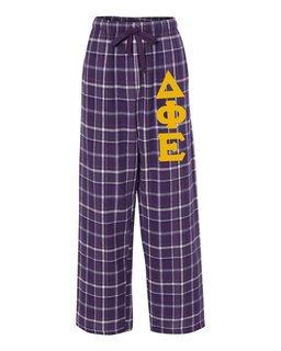 Delta Phi Epsilon Pajamas -  Flannel Plaid Pant