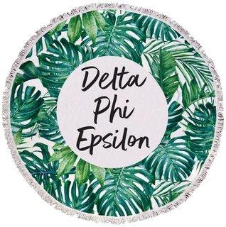 Delta Phi Epsilon Palm Leaf Fringe Towel Blanket