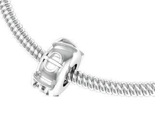 Delta Phi Epsilon Silver Bead Necklace
