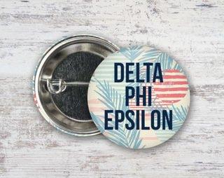 Delta Phi Epsilon Paradise Found Button