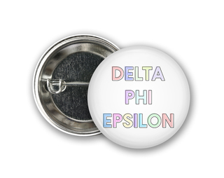Delta Phi Epsilon Pastel Letter Button