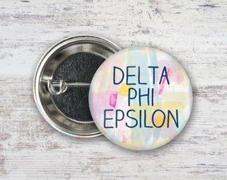 Delta Phi Epsilon Pastel Strokes Button