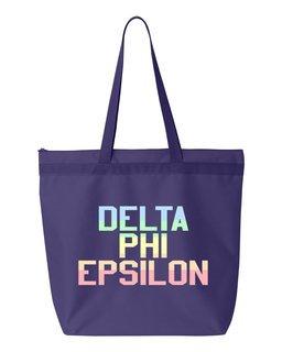Delta Phi Epsilon Pastel Tote Bag