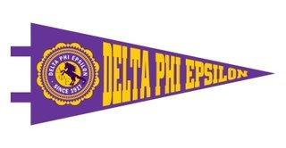 Delta Phi Epsilon Pennant Decal Sticker