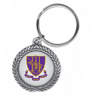 Delta Phi Epsilon Pewter Key Ring