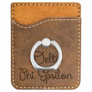 Delta Phi Epsilon Phone Wallet with Ring