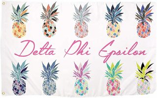 Delta Phi Epsilon Pineapple Flag