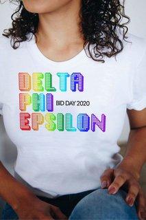 Delta Phi Epsilon Pixel Tee - Comfort Colors