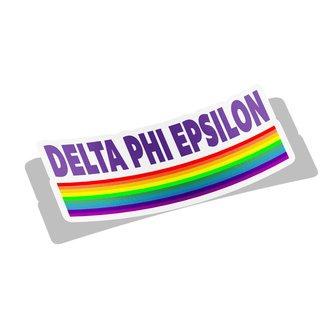 Delta Phi Epsilon Prism Decal Sticker
