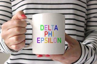 Delta Phi Epsilon Rainbow Coffee Mug