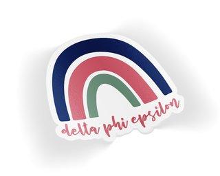 Delta Phi Epsilon Rainbow Sticker