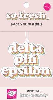 Delta Phi Epsilon Retro Air Freshener (2 pack)