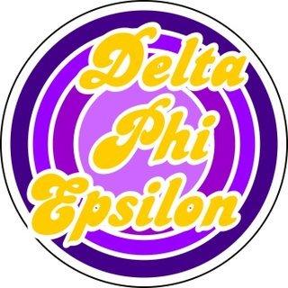Delta Phi Epsilon Retro Round Decals