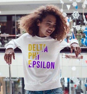 Delta Phi Epsilon Ripped Favorite Crewneck