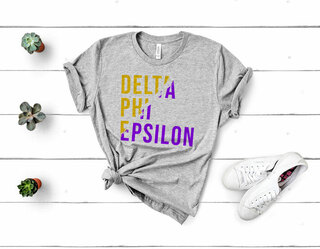 Delta Phi Epsilon Ripped Favorite T-Shirt