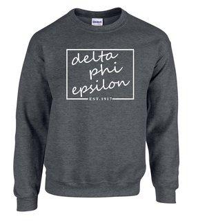 Delta Phi Epsilon Script Box Crewneck Sweatshirt