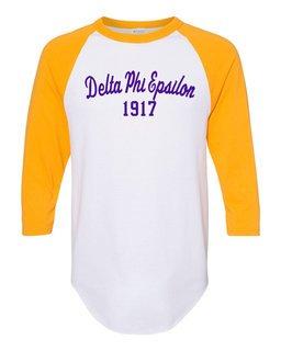 Delta Phi Epsilon Script Established Raglan