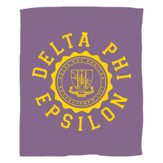 Delta Phi Epsilon Seal Fleece Blanket