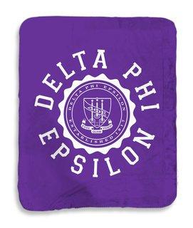 Delta Phi Epsilon Seal Sherpa Lap Blanket