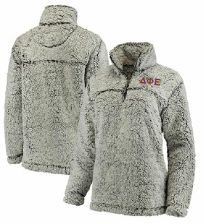 Delta Phi Epsilon Sherpa Quarter Zip Pullover