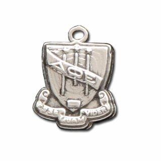 Delta Phi Epsilon Silver Crest - Shield Charm