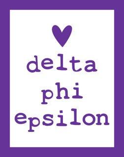 Delta Phi Epsilon Simple Heart Sticker