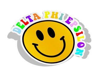 Delta Phi Epsilon Smiley Face Decal Sticker