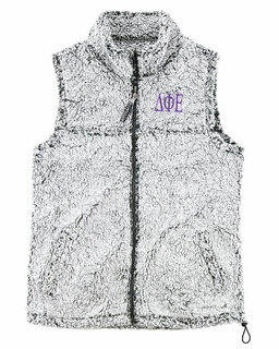 Delta Phi Epsilon Smoky Grey Sherpa Vest