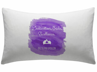 Delta Phi Epsilon Motto Watercolor Pillowcase