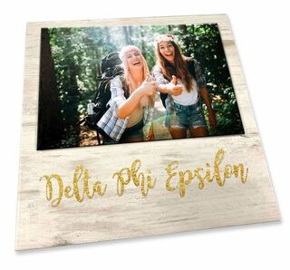 Delta Phi Epsilon Sorority Golden Block Frame