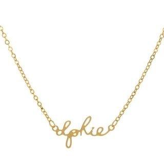 Delta Phi Epsilon Sorority Script Necklace