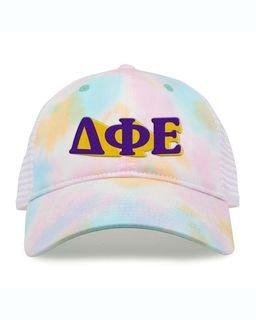 Delta Phi Epsilon Sorority Sorbet Tie Dyed Twill Hat
