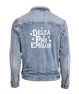 Delta Phi Epsilon Star Struck Denim Jacket