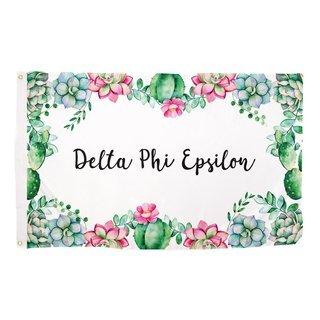 Delta Phi Epsilon Succulent Flag