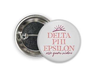 Delta Phi Epsilon Sun Button