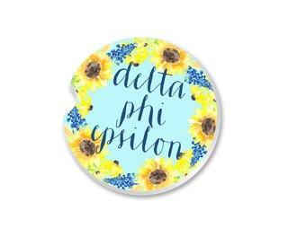 Delta Phi Epsilon Sunflower Car Coaster