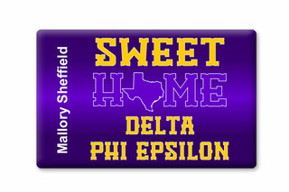 Delta Phi Epsilon Sweet Home Ceramic Magnet