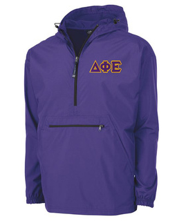 Delta Phi Epsilon Tackle Twill Lettered Pack N Go Pullover