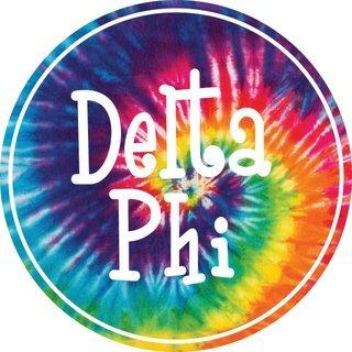 Delta Phi Epsilon Tie-Dye Circle Sticker