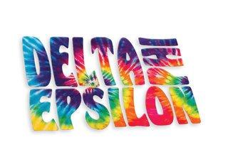 Delta Phi Epsilon Tie-Dye Stack Sticker