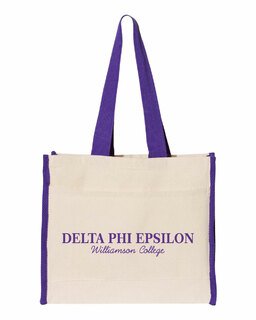 Delta Phi Epsilon Tote with Contrast-Color Handles