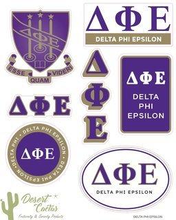 Delta Phi Epsilon Traditional Sticker Sheet