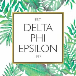 Delta Phi Epsilon Tropical Sticker Decal