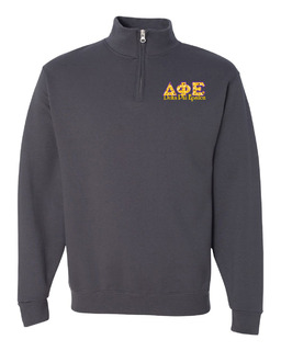 Delta Phi Epsilon Twill Greek Lettered Quarter zip