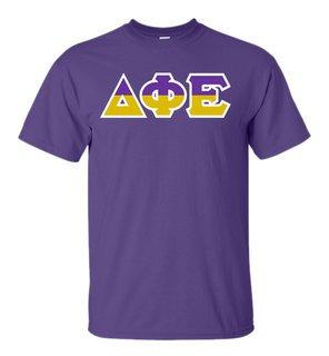 Delta Phi Epsilon Two Tone Greek Lettered T-Shirt