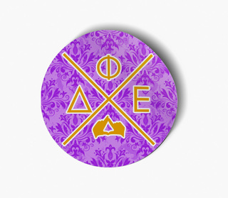 Delta Phi Epsilon Well Balanced Round Decals