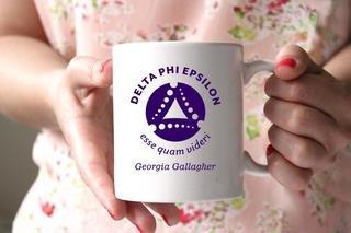 Delta Phi Epsilon White Mascot Coffee Mug