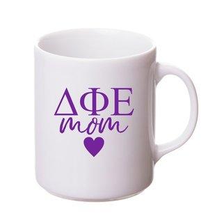 Delta Phi Epsilon White Personalized Coffee Mug