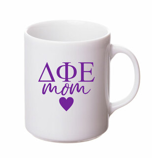 Delta Phi Epsilon White Personalized Coffee Mug