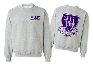 Delta Phi Epsilon World Famous Crest - Shield Crewneck Sweatshirt- $25!